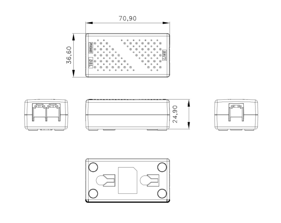 RubyTech Adapterstecker/Konverter RJ-12/4 auf RJ-45 - Richtfunk ...