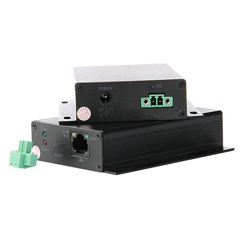 Bild 1 - Ethernet Extender point-to-point oder point-to-multipoint über 2-Draht